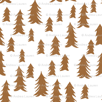 trees // forest trees brown khaki kids woodland outdoors tree print