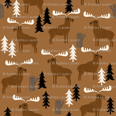 moose // brown charcoal cream dark brown moose canada outdoors animals scouts baby boy kids camping