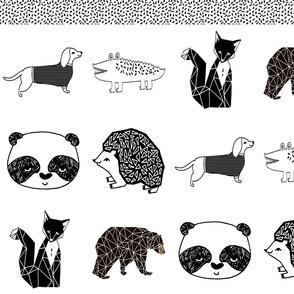 cloth book // kids nursery bw animals black and white nursery baby