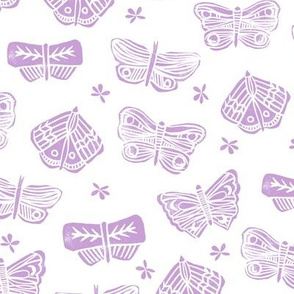 butterfly // block print spring purple lavender lilac butterflies girly pastel
