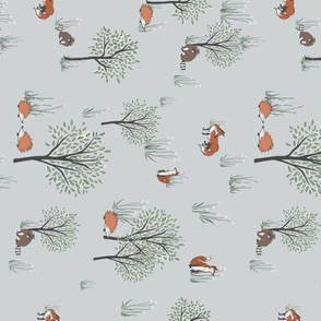Woodland Friends for Tea Towels