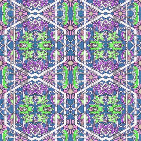 Of Artichokes and Vines fabric by edsel2084 on Spoonflower - custom fabric