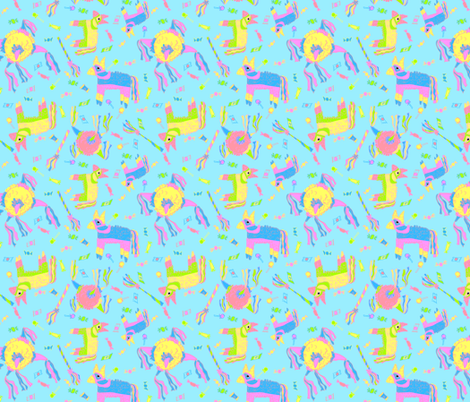 Pinata Fiesta! fabric by thefoxylady on Spoonflower - custom fabric