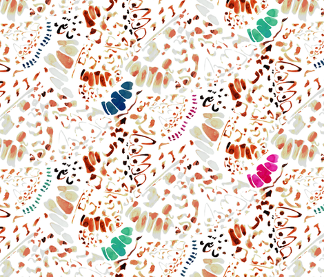 PAPILLONV_BLANC fabric by t-13 on Spoonflower - custom fabric
