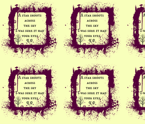 poetry_5 Calico fabric by darkdaisy on Spoonflower - custom fabric