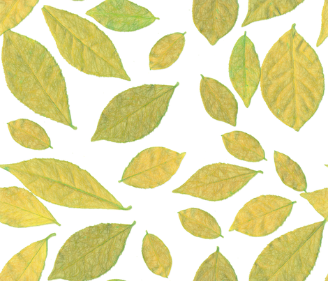 Scattered Leaves large size fabric by denisebeverly on Spoonflower - custom fabric