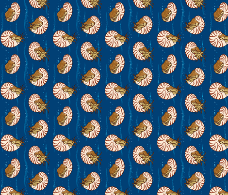 Nautilus tiles fabric by racieb on Spoonflower - custom fabric
