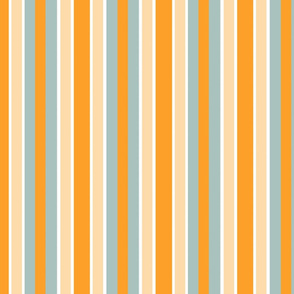 Orange and Blue & White Stripe