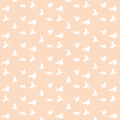 Doves in Flight, Peach Blush 2 for Desert Meadow Collection