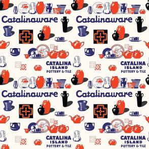 Catalina Island Pottery Retro Print