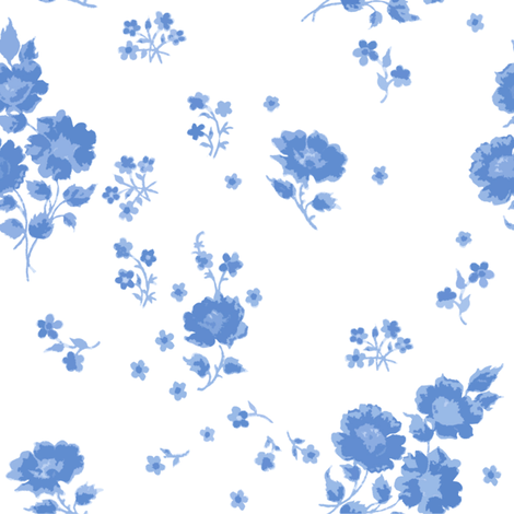 Ingrid in blueberry fabric by lilyoake on Spoonflower - custom fabric