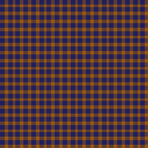 Orange and Blue Tartan