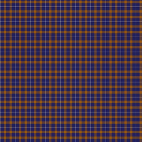 Blue and Orange Tartan