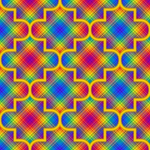 Quatrefoil Plaid 02