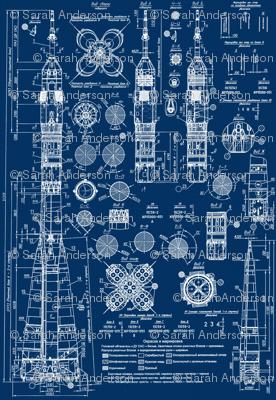 Soyuz blueprint wallpaper sharksvspenguins spoonflower for Blueprint estimator