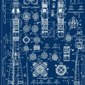 blueprint fabric wallpaper gift wrap spoonflower