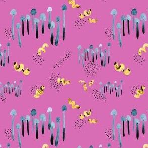 Mushroom Pasta in lilac