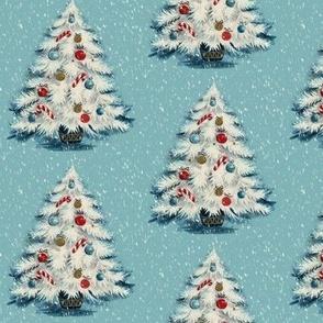 Retro Christmas Fabric Wallpaper Gift Wrap Spoonflower