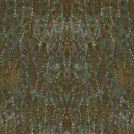 Primordial Damask - Swamp Jewels fabric by glimmericks on Spoonflower - custom fabric