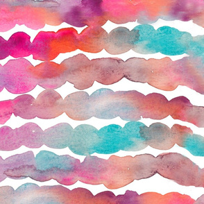Minnow Watercolor Striped Fabric