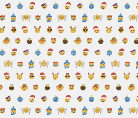 Emoji Gift Wrap fabric by fanmoji on Spoonflower - custom fabric