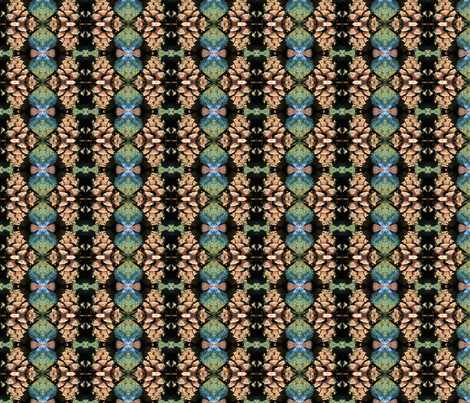Pinon and Turq fabric by ktd on Spoonflower - custom fabric