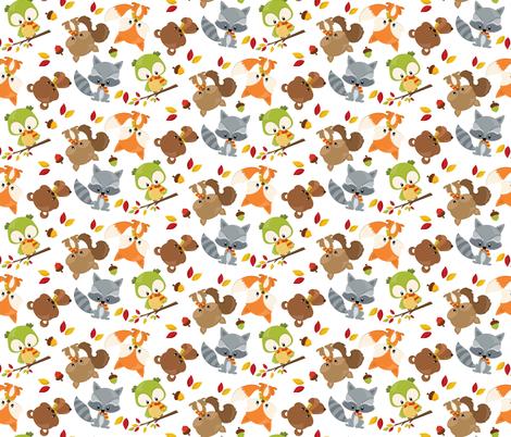 SP-FALL-ANIMALS-01 fabric by prettygrafik on Spoonflower - custom fabric