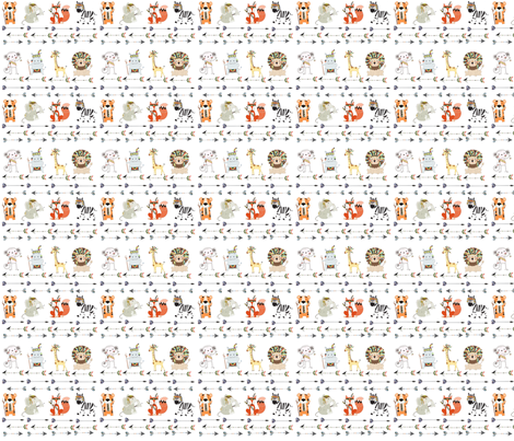 Woodland animals fabric by jennymweigum on Spoonflower - custom fabric