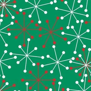 Atomic Snowflakes- XL Green