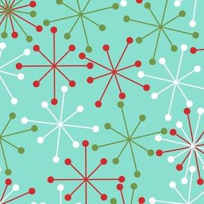 Atomic Snowflakes- XL Turquoise