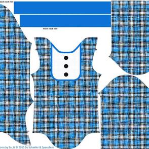The Blue Grunge Onesie for Newborns by Su_G