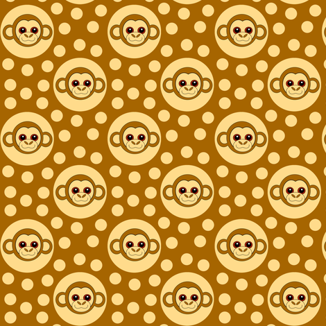 Extra Dotty Monkey Polka Dot fabric by eclectic_house on Spoonflower - custom fabric