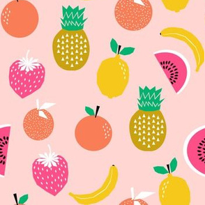 fruits summer pink pineapple fruit watermelon bananas oranges lemons pineapples pink girly cute