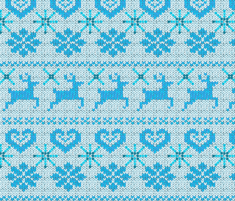 Scandinavian Knitting (Blue) fabric by vannina on Spoonflower - custom fabric