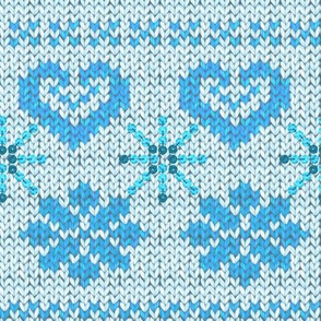 Scandinavian Knitting (Blue)