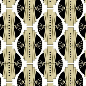 Art Deco Gold Circles