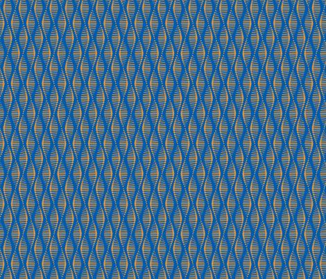 Gene Splice Blue fabric by chris_jorge on Spoonflower - custom fabric