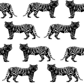 tiger black and white geometric nursery baby