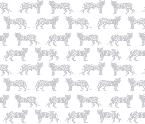 grey tiger geometric nursery  fabric by charlottewinter on Spoonflower - custom fabric