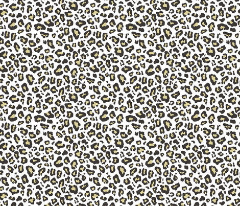 Leopard animal fur print fabric caja design spoonflower for Designer animal print fabric