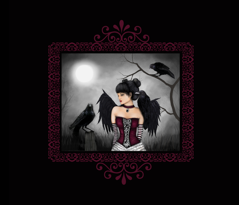 Raven Faerie fabric by phaedra_art on Spoonflower - custom fabric