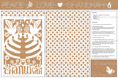 Peace Love  Chanukah | DIY Judaica