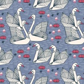swans // blue stonewash blue swans girls bird birds sweet summer