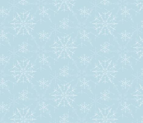 Cosmic Snowflakes on pale blue fabric by penina on Spoonflower - custom fabric