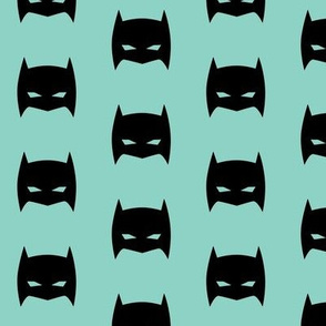 Superhero Bat Mask Light Teal