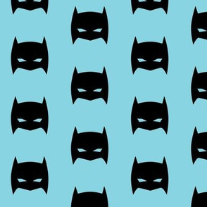 Superhero Bat Mask Pale Blue