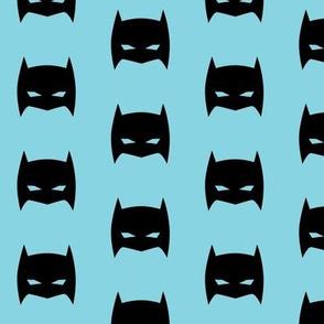 Superhero Bat Mask Pale Blue