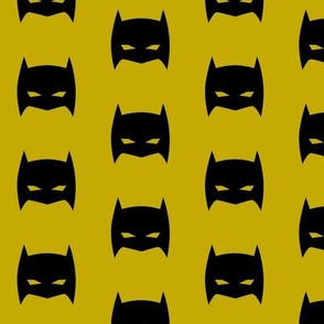 Superhero Bat Mask Mustard