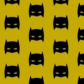 Superhero Bat Mask Mustard