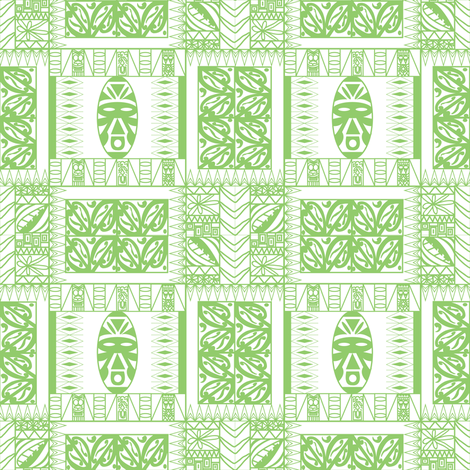 Tribal Tiki fabric by emimarie on Spoonflower - custom fabric